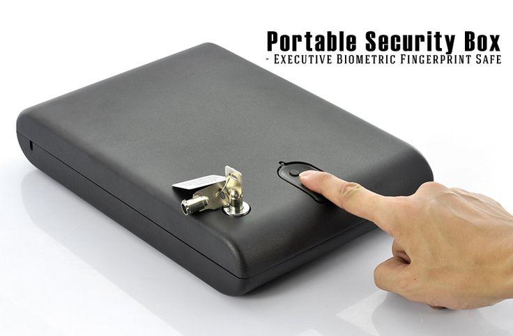 Portable Security Box - Executive Biometric Fingerprint Safe, 120 Fingerprints                                           http://www.chinavasion.com/PortableFingerprintSecurityBox/