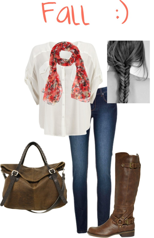 """Casual Fall outfit"" by sagravel on Polyvore"