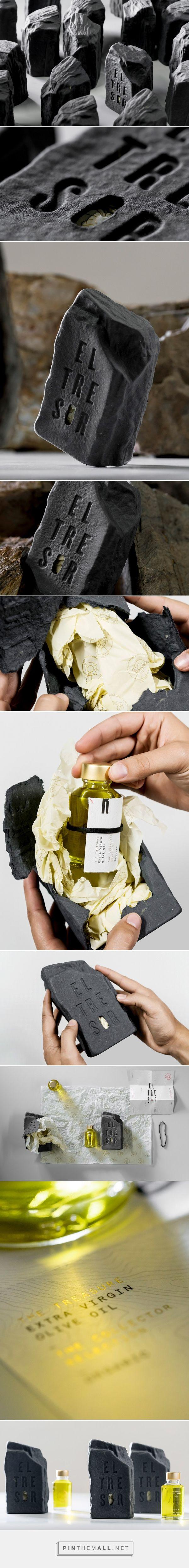 El tresor (The treasure) exclusive olive oil packaging design by Zoo Studio - https://www.packagingoftheworld.com/2018/02/el-tresor-treasure.html