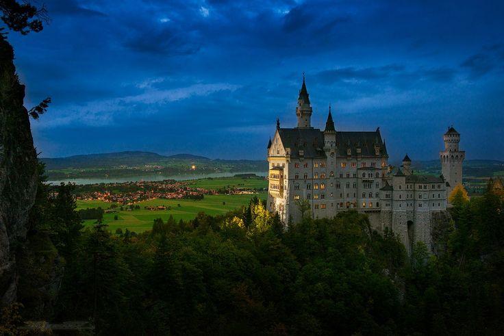 Нойшванштайн, Бавария, Германия.