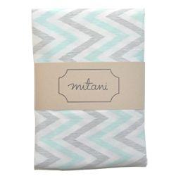 Mitani Crib Sheet - Chevron Mint