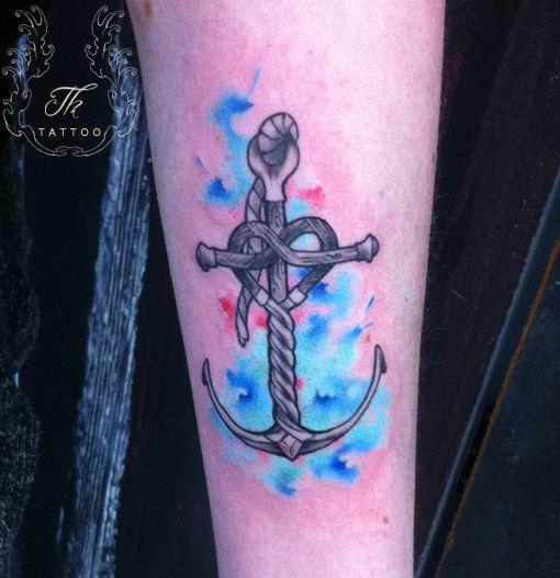 anchor tatoo_color_watercolor_tatuaje_fete_bucuresti_mana_salontatuaje