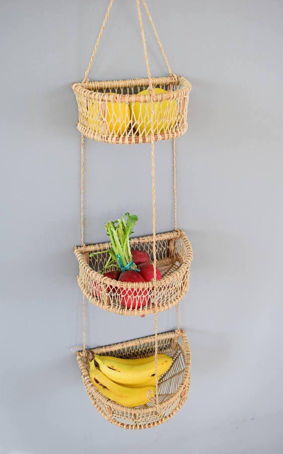 Mexican Fruit Basket Hanging Basket Storage Basket Mexican