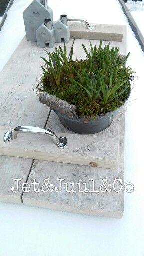 Dienblad van steigerhout, gemaakt door Jet&Juul&Co