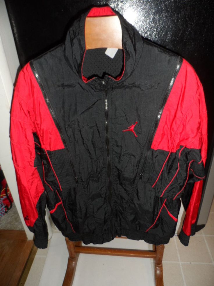 VINTAGE NIKE AIR JORDAN WINDBREAKER FLIGHT JACKET ...
