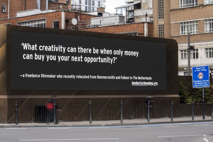 London Billboards Share Stories of a City That's Just Getting Too Expensive for Many - CityLab