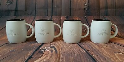 Set of 4x Acura Coffee Mugs Black & White Cup Collectible Mug Honda Motors