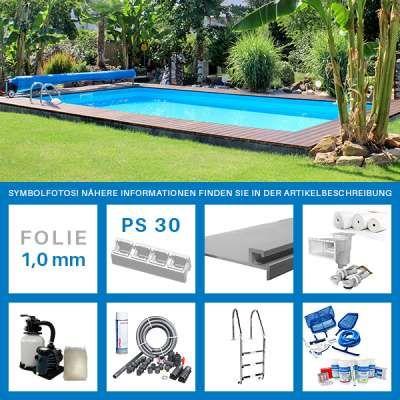 Rechteckpool 8,00 x 4,00 x 1,50 m PROFI-Set