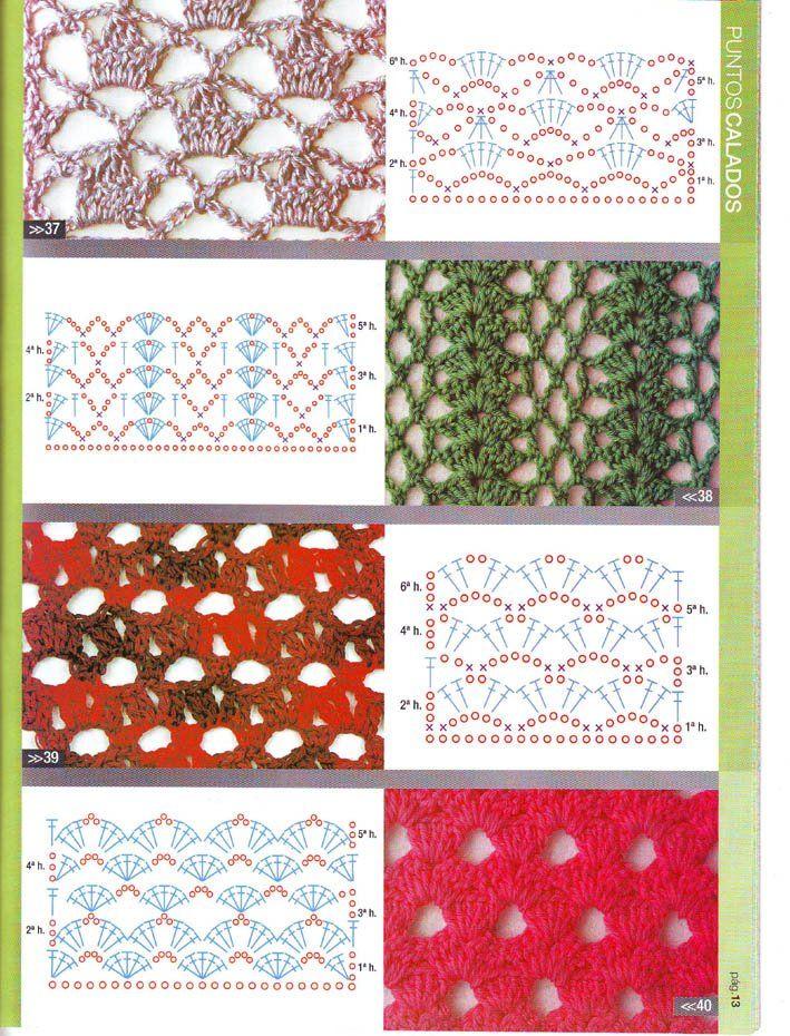 17 best Puntos calados crochet images on Pinterest | Bordes de ...