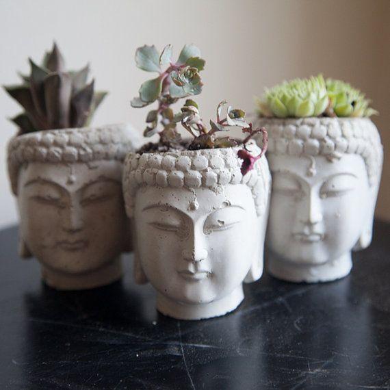 Buddha Head Planter by brooklynglobal on Etsy, $16.00