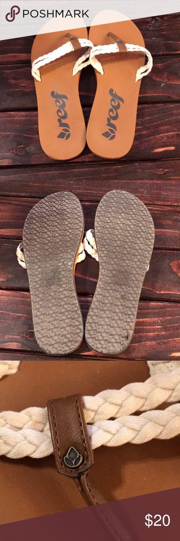 Reef flip flops Reef flip flops. Wore once!  In very good condition Reef Shoes Sandals #flipflops