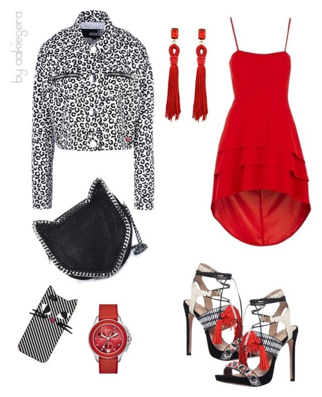 """Una gatinha"" by aakiegera on Polyvore featuring мода, Love Moschino, STELLA McCARTNEY, Topshop, Kurt Geiger, Lulu Guinness и Michele"