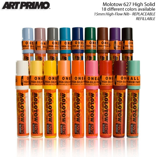 Molotow High Solid 627 One 4 All Marker Designed For Professional Artists Graffiti Molotow S Patented Flowm Graffiti Supplies Markers Fabric Manipulation
