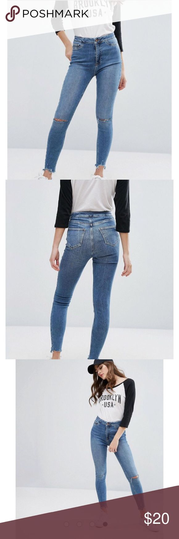 Asos High Waisted Super Skinny New Look Jeans •Originally from Asos  •In great condition •Stretchy material ASOS Jeans Skinny