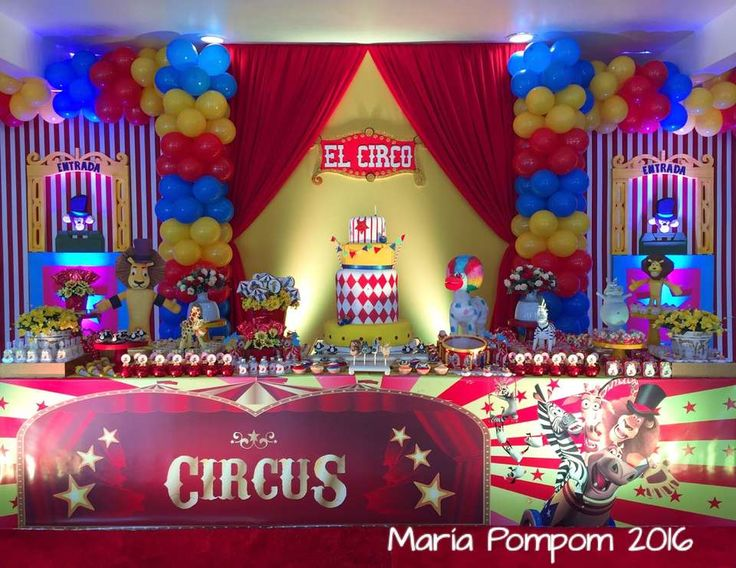 "Circus / Carnival / Birthday ""Wow!!! Madagascar CIRCUS Party!!! "" 