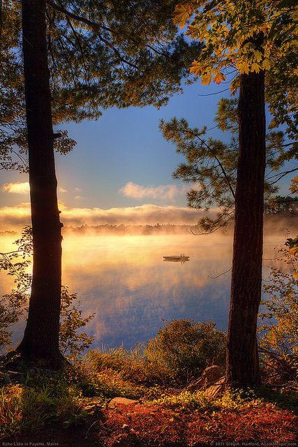 balenciaga paris The sunrise  lake  and morning mist came together nicely in this photo taken on Echo Lake in Fayette  Maine  part of Kennebec County in the southwestern part of the State