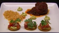 Taco de bœuf déstructuré et tostadas de thon