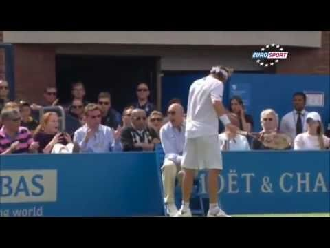 Tennis Player kicked linesman until he BLEEDS.It boiled over for the Argentine David Nalbandian in the Queens tournament in tennis. He was disqualified for having damaged a Linesman. https://youtu.be/KTTj0HJxYXs Love #sport follow #sports on @cutephonecases