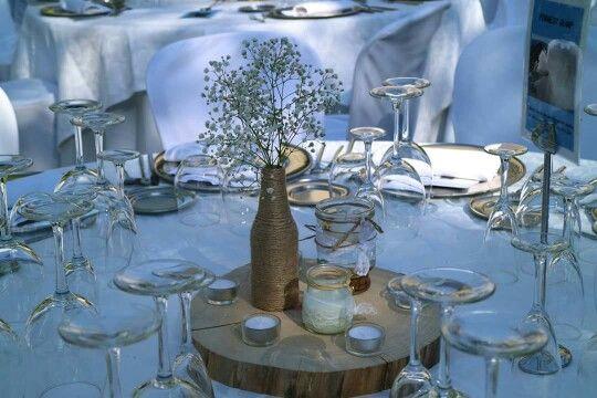 Centro de mesa para tu boda, en Omicrón Cáceres.