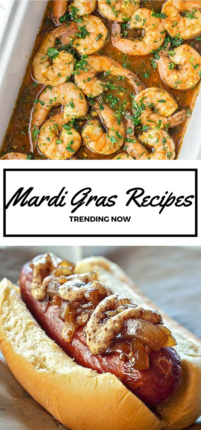15 Top Mardi Gras Inspired Recipes // Everything from Cajun shrimp to creamy crawfish dip to sugar-dusted beignets, these New Orleans-style recipes are trending on social media for good reason.