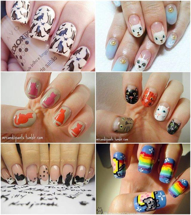 cat nail arts