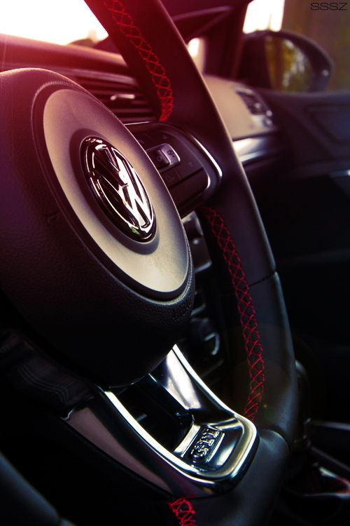 Would love to get a new steering wheel for my Golf... and update the interior to match the red stitching.
