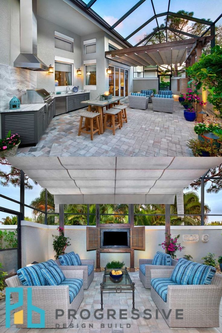Beautiful Outdoor Kitchen Living Space Remodel Bonita Bay With Images Outdoor Kitchen Design Outdoor Kitchen Kitchen Design Trends