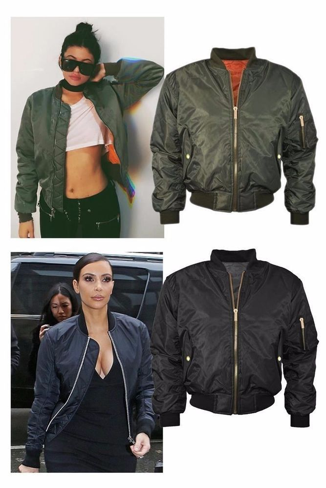 Plus Size MA1 Womens Ladies Big Bomber Jacket Flight Army