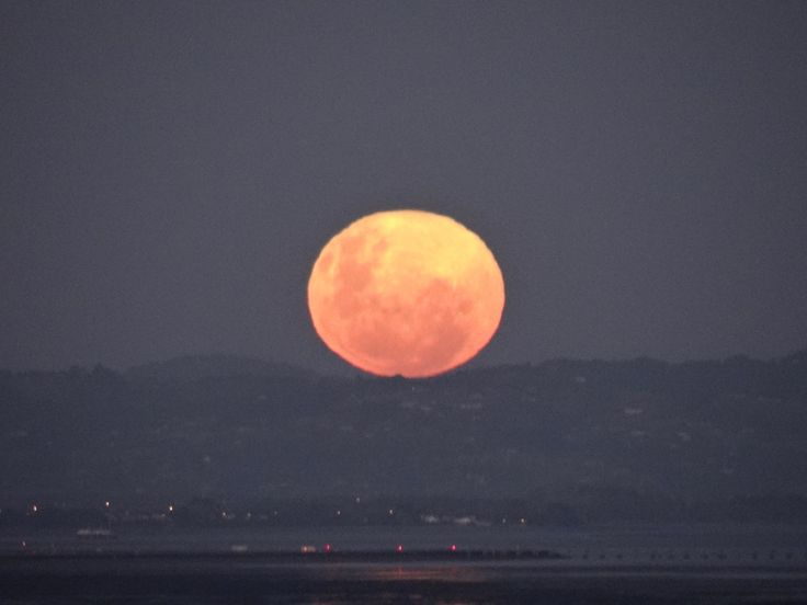 Full Moon over the #Manukau Harbour, #Auckland #New Zealand Friday the 13th 2014