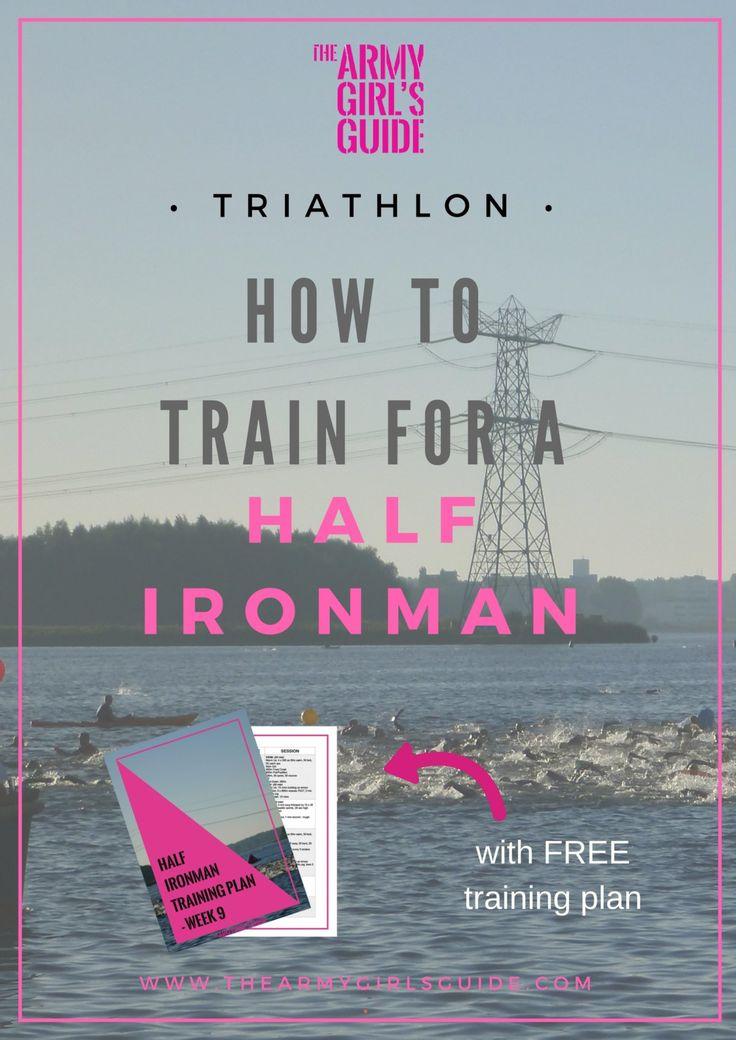 Free Triathlon Half Ironman Training Plan. My five top tips for half ironman triathlon training, along with a free example training plan! Happy triathlon training!