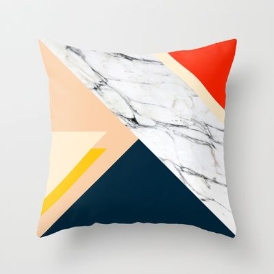 Abstract marble 3 Throw Pillow by Laura Moreau - $20.00