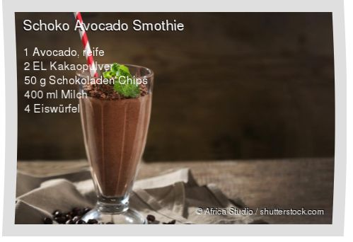 Leckeres Schoko Avocado Smothie Rezept mit einfacher Schritt-für-Schritt-Anleitung: Avocado schälen und entkernen , Alles in einem Mixer gut vermischen...