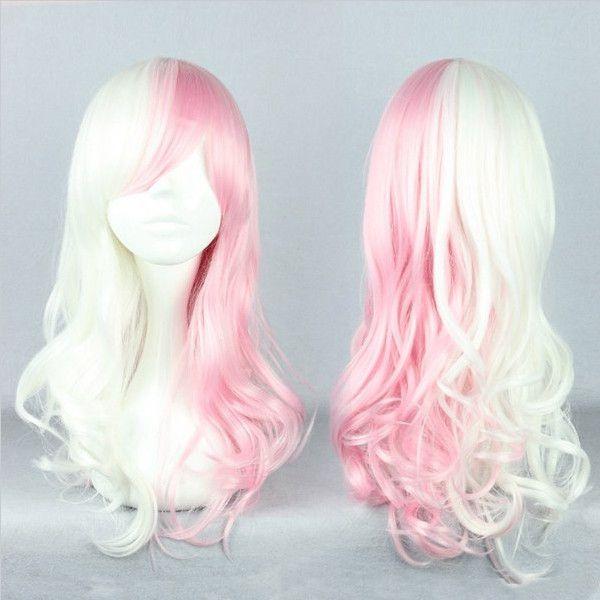 Pink White Mixed The broken Mono America Anime Cosplay Wig