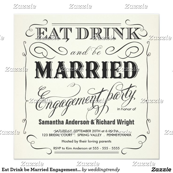 1000 Images About Eat Drink And Be Married On Pinterest: 1000+ Images About Wedding :Engagement Party Invitations