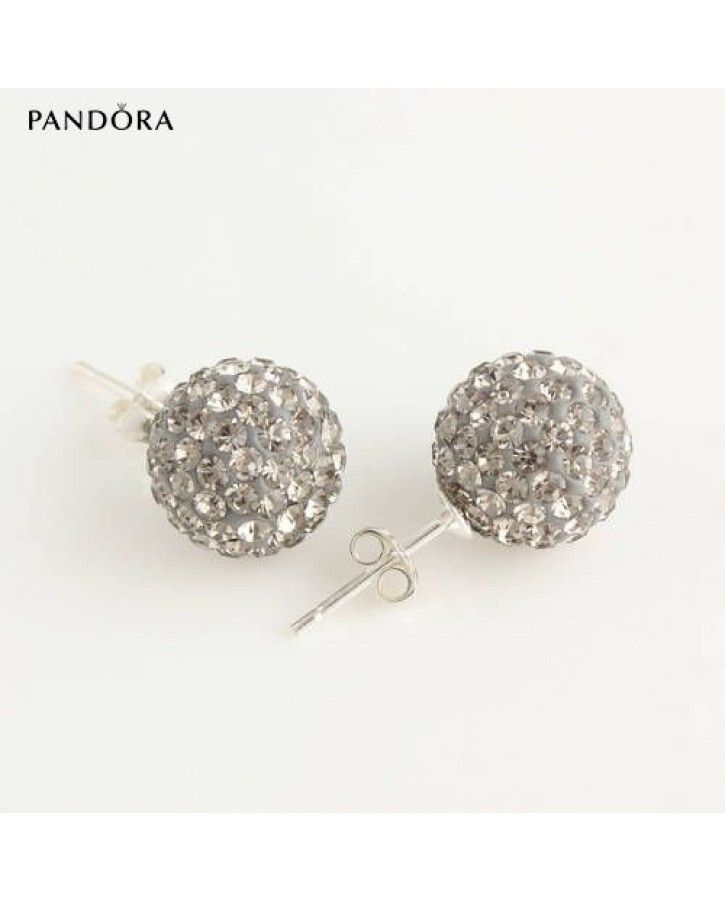 Trending Now - Pandora on sale 10mm disco ball black diamond crystal bead stud 925 silver earrings ser1003 Online | pandora Sale UK