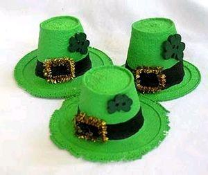 Styrofoam cups make these mini Leprechaun hats