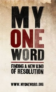 """Every new year brings new """"resolutions.'"""" But the problem is that we rarely follow through on them. """"My One Word"""" is an experiment designed to move past new year's resolutions and instead pick ONE WORD. Find out more at www.myoneword.org"""