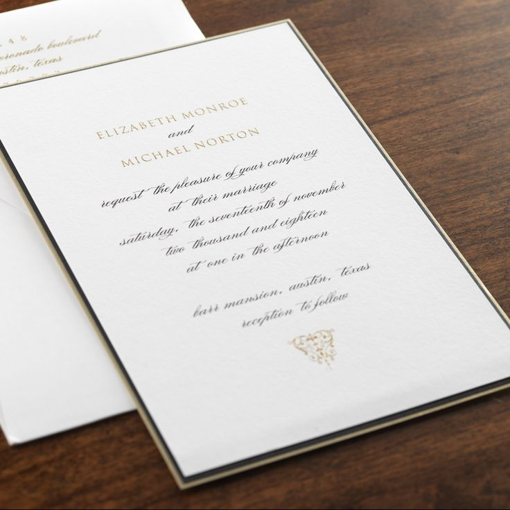 17 best images about timeless wedding invitations on pinterest, Wedding invitations