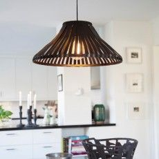 Ribbed leatherlike pendant lamp Remy by WIS Design