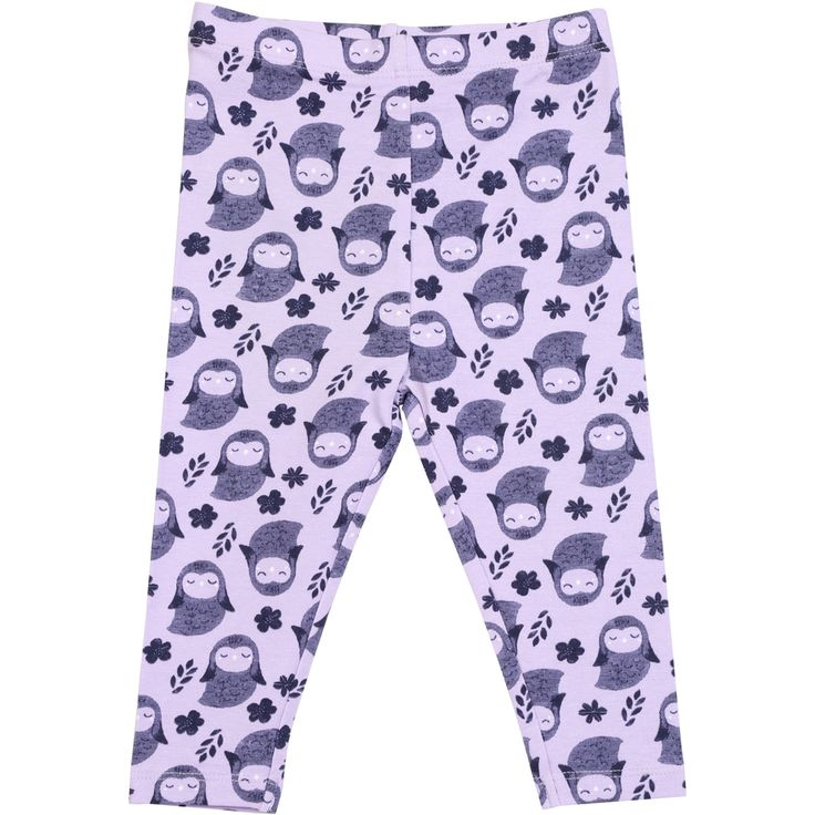 Dymples Baby Print Leggings - Purple | BIG W