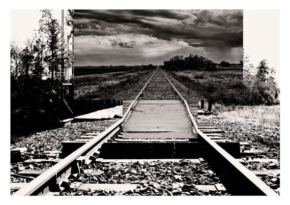 Intersecting Railroads II  Digital Collage print  by Posterium, $15.00