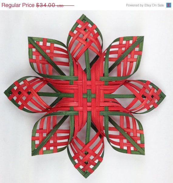 ON SALE Lg Woodland Star Woven Snowflakes Cherokee by Baskauta27, $28.90