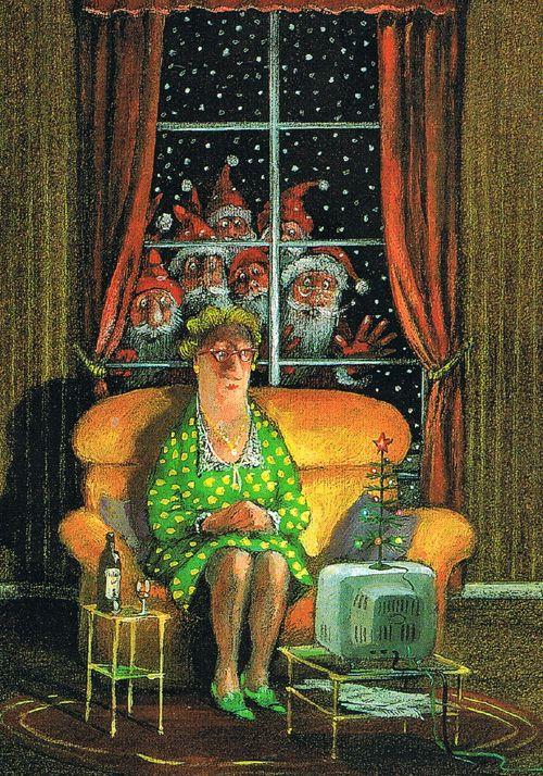 TV Kerst. Een postkaart van Gerhard Glück