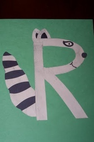 raccoon r craft   google search letter crafts letter rr crafts
