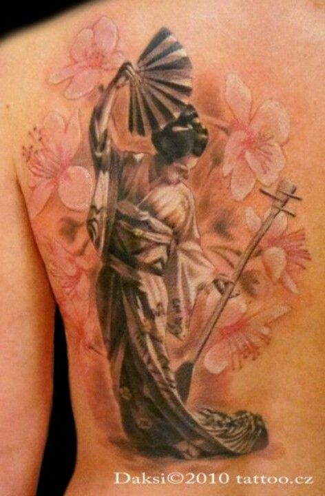 geisha tattoo la catrina tattoos pinterest r cken t towierungen japanische tattoos und. Black Bedroom Furniture Sets. Home Design Ideas