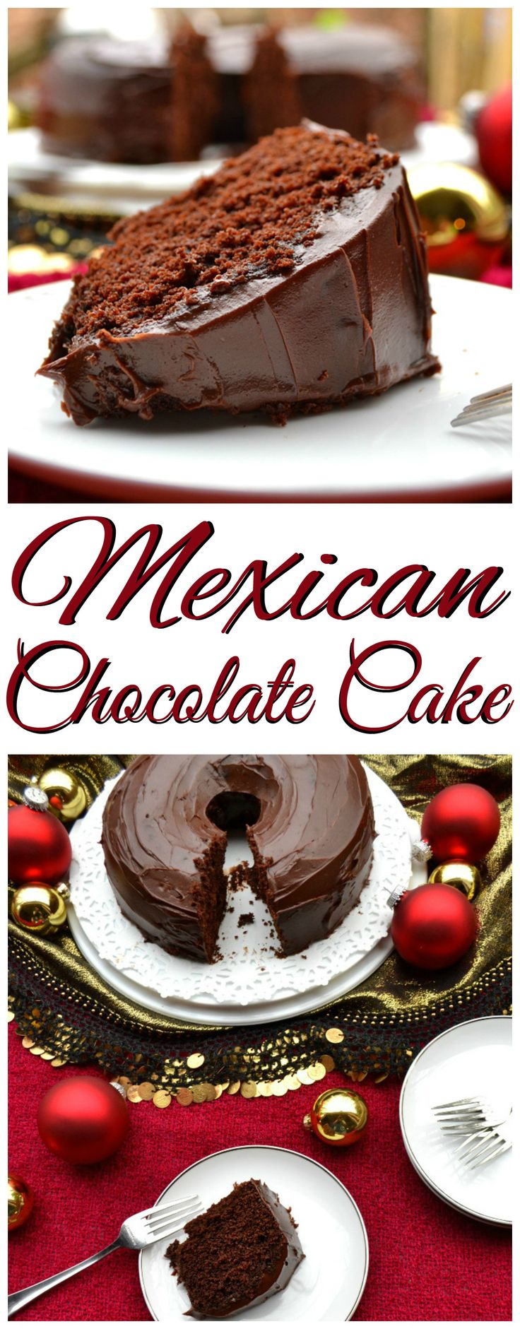 Mexican Chocolate Cake & Ganache Made with Abuelita |  Chocolate, Coffee, Cinnamon & Vanilla | Rich, Moist, Flavorful & Delicious | Christmas Holiday Baking | www.craftycookingmama.com | #nestleholiday ad