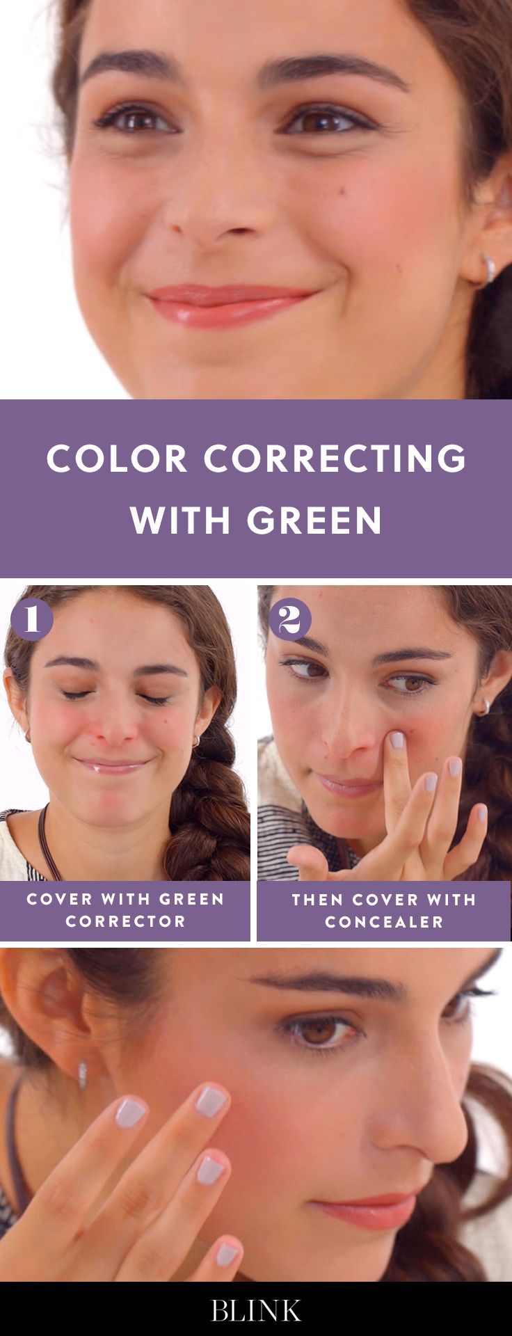 Color Correcting with Green #blinkbeauty #colorcorrecting #makeuptutorial