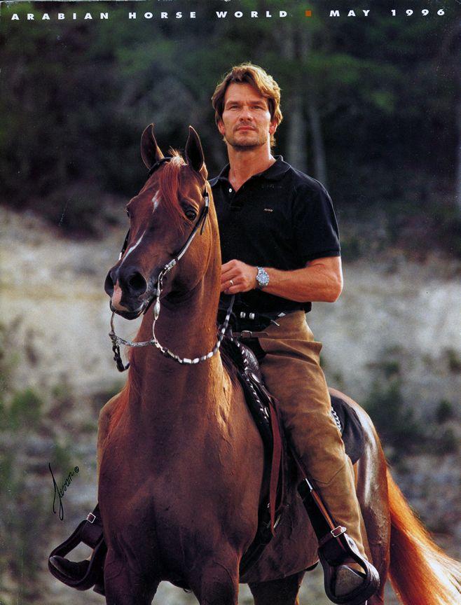 Patrick Swayze & his Arabian stallion Tammen