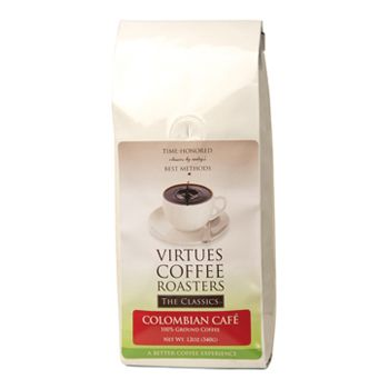 Special Offers Available Click Image Above: Virtues Coffee Roasters Colombian Cafe Ground Coffee 1lb Bag