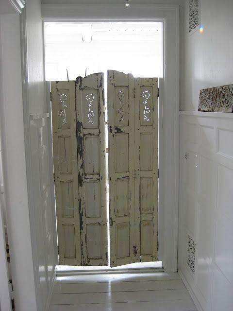 Repurposed Shutters Into Swinging Doors Absolutely Love